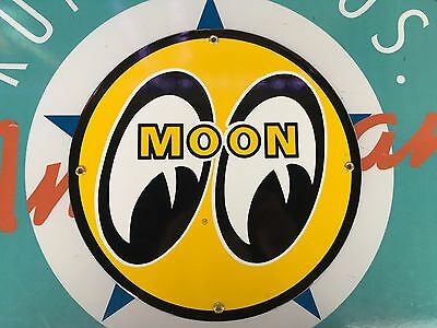 top quality MOON speed equipment porcelain coated 18 GAUGE steel SIGN
