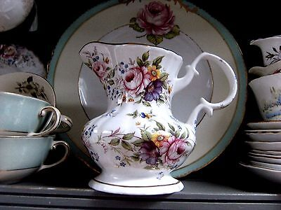 Gorgeous Large Floral China Decorative Jug By Fenton China