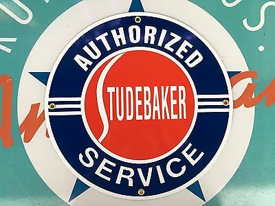 top quality STUDEBAKER authorized SERVICE porcelain coated 18 GAUGE steel SIGN