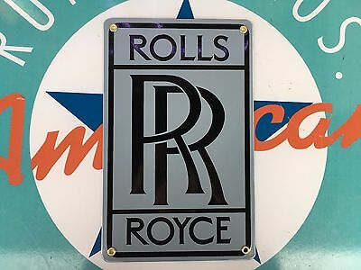 top quality ROLLS ROYCE  PORCELAIN coated 18 GAUGE steel SIGN