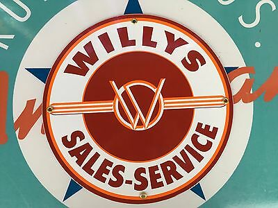 top quality WILLY'S  porcelain coated 18 GAUGE steel SIGN