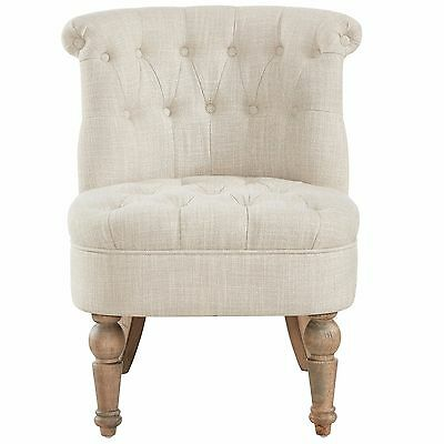 """Briana"" Collection Tufted Round Accent Chair in 3 Colours by !nspire 403-256"