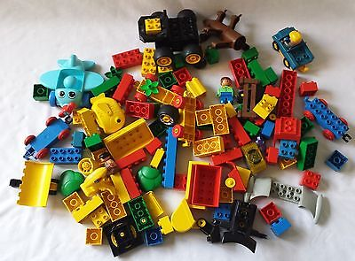 1.7Kg Of Lego Duplo - Collection Of Blocks, Cars, People + Assorted Shapes