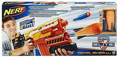Nerf - Lanzadardos Demolisher 2 en 1 Elite (Hasbro A8494EU4)
