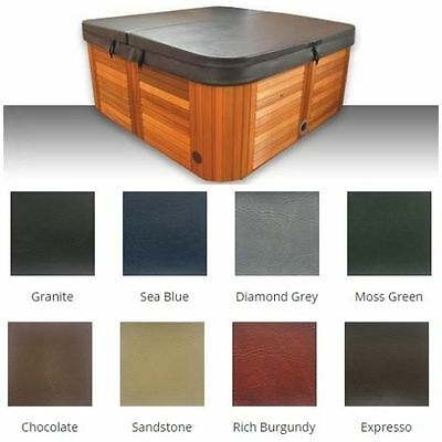Australian Made lockable Hard (2.18m x 2.18m) Insulated Spa Cover-Colour Granite