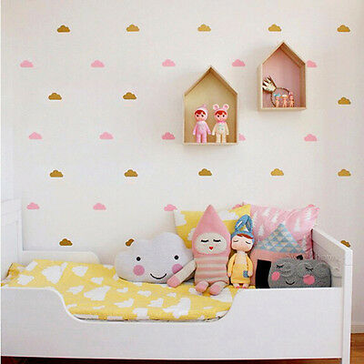 Little Cloud Removable Decor Stickers Child's bedroom Vinyl Wall Sticker HOT