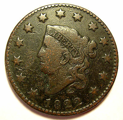 1822 Large Cent N11 R3 Sharp Nice FREE SHIPPING