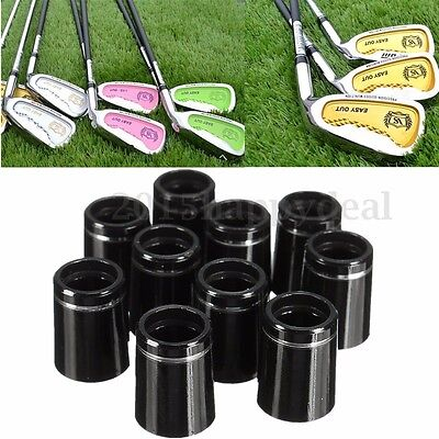 10pcs Golf Taper Tip Ferrules Adapter w/ Single Silver Ring For 0.335 Iron Shaft