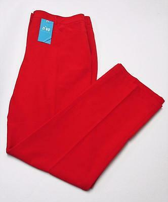New Ladies NiVO Size 14 polyester spandex red golf pants