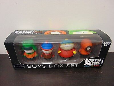 South Park Year Of The Fan Boys Box Set Mezco Cartman, Kyle, Kenny, & Stan 2011