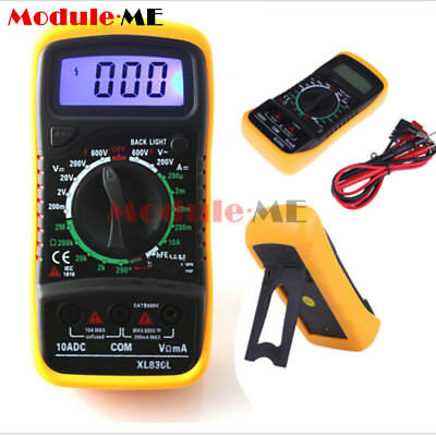 LCD Multimeter Voltmeter Ammeter OHM ACDC Circuit Tester Checker XL-830L UK