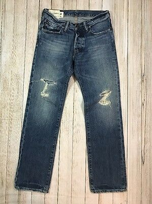 Abercrombie & Fitch Kids Boys Distressed Slim Straight Denim Jeans Size 14