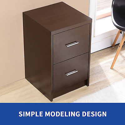 Espresso 2 Drawers File Cabinet Storage Lateral Letter Legel Home Office
