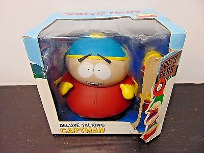 New SOUTH PARK DELUXE TALKING CARTMAN FIGURE BY MEZCO - 12 PHRASES Damaged box