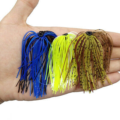 Mixed Color Fishing Squid Rubber Jigs Ring 50 Strands Skirts Silicone Line Lures