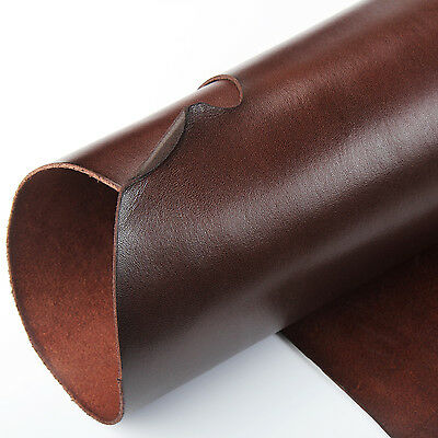 WUTA Brown Veg Tanned Cowhide Leather 2mm Thick Drum Dyed For Holster Wallet
