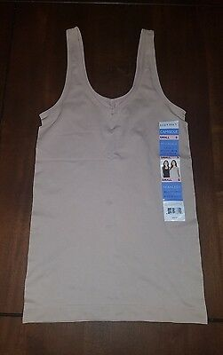NWT Womens Tan ELLEN TRACY Reversible V-Neck or Scoop Camisole Small