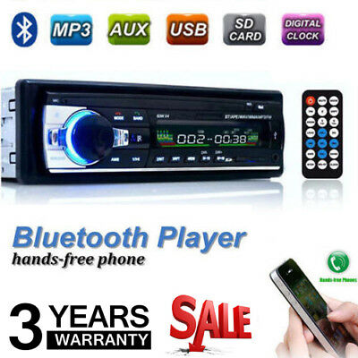 Bluetooth Car Stereo Radio Head Unit Player MP3/USB/SD/AUX-IN/FM In-dash IPod 1D