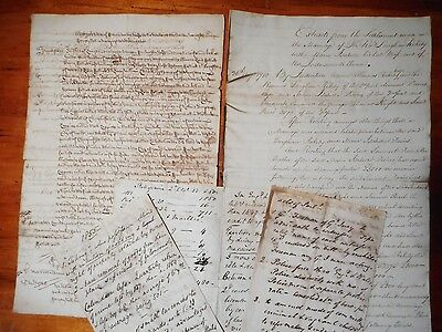 A bunch of 19th century English manuscripts...