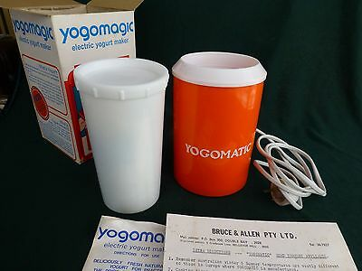 RARE KITSCH UNUSED 1970s ERA YOGAMATIC ELECTRIC YOGURT MAKER IN ORIGINAL BOX