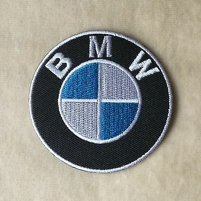 2.5inches BMW MOTOR SPORT RACING CAR LOGO EMBROIDERY IRON ON PATCH BADGE #ROUND