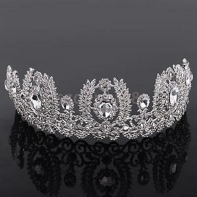 Wedding Bride Crystal Rhinestone Hair Headband Crown Tiara Prom Pageant