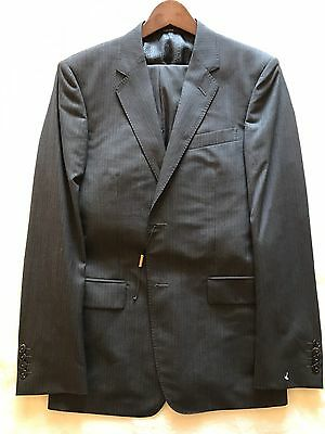 """NEW $3500 Gucci Grey Pinstripe Suit 38R Jacket Trousers 32"""" W 31 L selection 48R"""