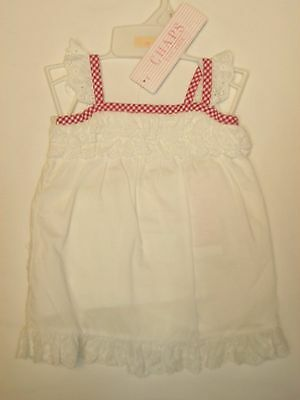 CHAPS NEW Baby Girls White 2 Piece Dress Size 6 Months