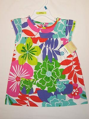 CARTER'S NEW Baby Girls Multi Color Floral Pullover Top Shirt Size 24 Months