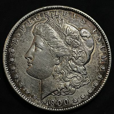 1900-P $1 Morgan Silver Dollar AU+ Details (Cleaned)