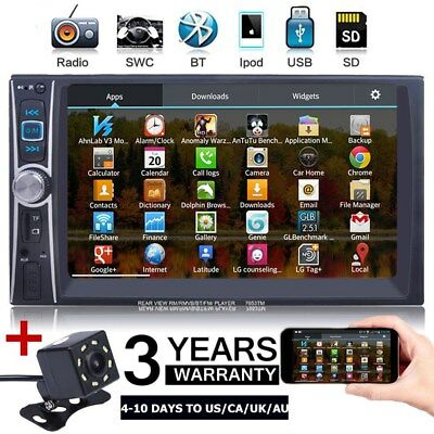 """7"""" 2 DIN IN Dash Car Stereo video AUX MP5 Player E-Link For Android With Camera"""