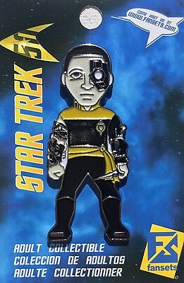 Star Trek Mirror Universe Data Licensed FanSets MicroCrew Collector's Pin