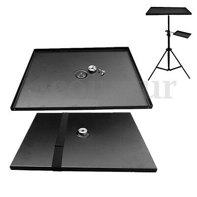 Metal Projector Tray Holder For 1/4'' 3/8'' Screw Tripod Stand & 7''-15'' Laptop