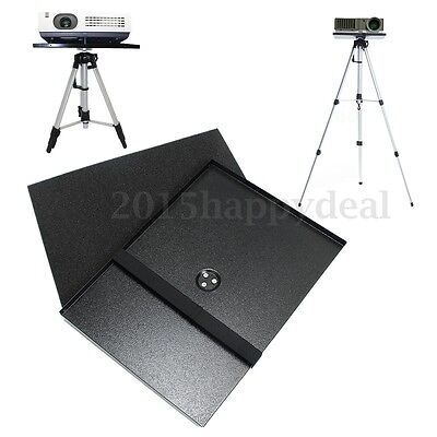 Metal Notebook Laptop Projector Tray Holder For Screw Adjustable Tripod Stand