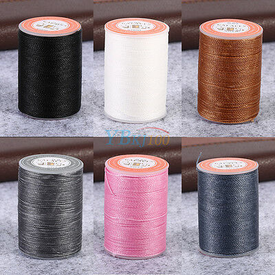 85M/Roll 0.65mm Round Waxed Thread Leather Hand Craft Sewing Line Stitching Cord