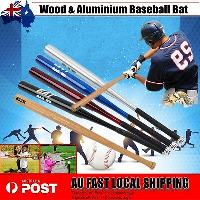 "25""63CM/32""81CM Wood & Aluminium Baseball Bat Racket Softball Outdoor Sports BBY"