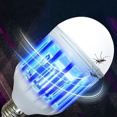 E27 UV LED Electric Mosquito Fly Pest Bug Insect Trap Zapper Killer Night Lamp