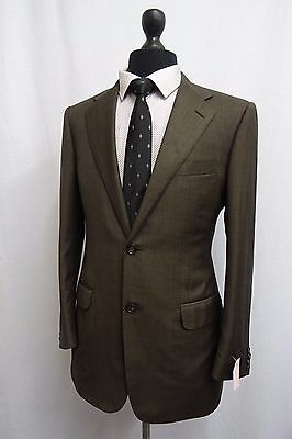 Men's Designer Italian Corneliani Brown Suit 38R W32 L30 SS9056