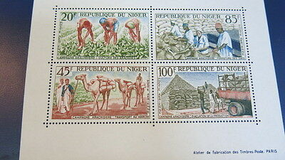 1960s Mini Sheet 4 Stamp Release Republique du Niger Mint condtn MNH