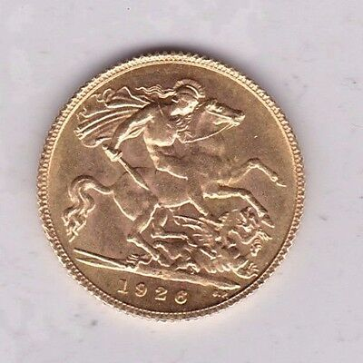 1926Sa Gold Half Sovereign In Near Mint Condition