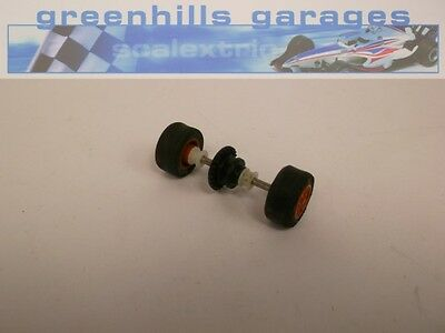 Greenhills Scalextric Ford Escort XR3i Rear Axle / Wheels /Tyres Red (P1791) ...