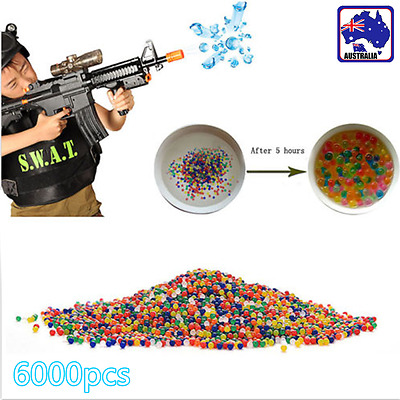 6000pcs Mixed Crystal Water Bullet Ball Pistol 9MM Toy Gun Bullets GWGB58909x20