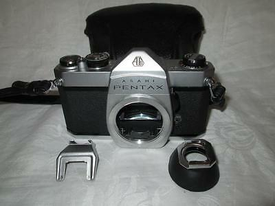 Asahi PENTAX Spotmatic SP500 SLR Camera Body, Case + Extra`s