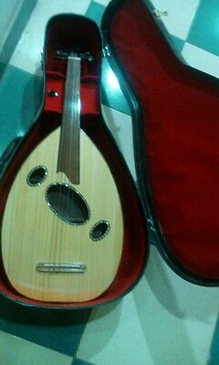 Electric oud Flat bavly with SOLID CASE and an equalizer and audio output