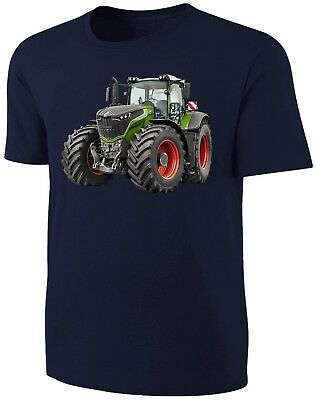 Traktor Kinder T-Shirt Fendt Schlepper Shirt Blau
