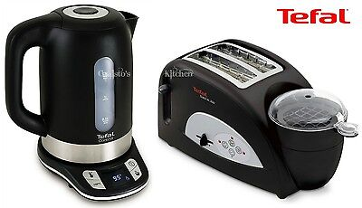 Kettle and Toaster Set Tefal Toast N Egg & Black Temperature Control Kettle New