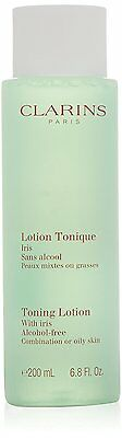 Clarins Toning Lotion With Iris Alcohol-Free Combination / Oily Skin 200ml - New
