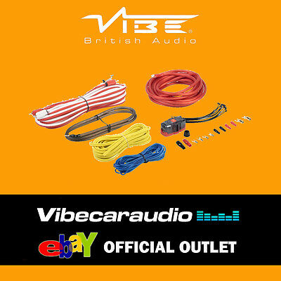 Vibe CL8AWKT-V7 8 AWG Gauge Power Ground RCA Fuse Amplifier Wiring Kit