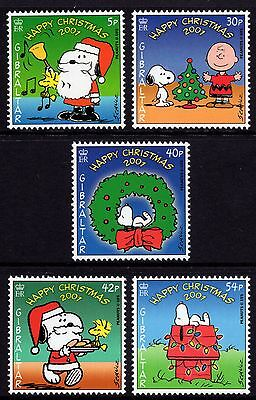Gibraltar 2001 Christmas - Peanuts Complete Set SG 989 - 990 Unmounted Mint