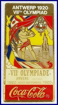 coca cola The 1920 Summer Olympics games  in Antwerp, Belgium lapel pin badge